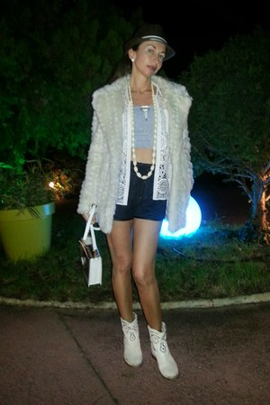 cream Isabel Marant boots - cream by mon showroom coat - cream asos shirt