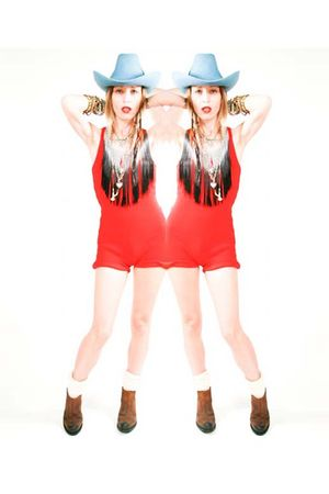 red Self Made dress - Jeffrey Campbell boots