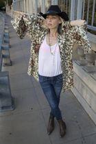 vintage jacket - American Apparel t-shirt - blank via loehmanns jeans - vintage