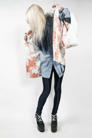 vintage jacket - H&M shirt - American Apparel pants - diy charles anastase boots