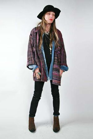 laise adzer jacket - H&M shirt - black j brand x duarte jeans - Jeffrey Campbell