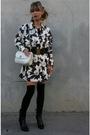Vintage-chanel-dress-black-vintage-chanel-belt-black-american-apparel-stocki