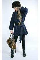 Zara sweater - black American Apparel leggings - black vintage boots - Chanel be