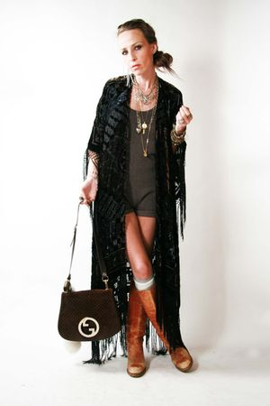 vintage jacket - Self Made - Frye boots - Gucci purse