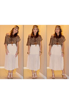 chiffon skirt - leopard print blouse