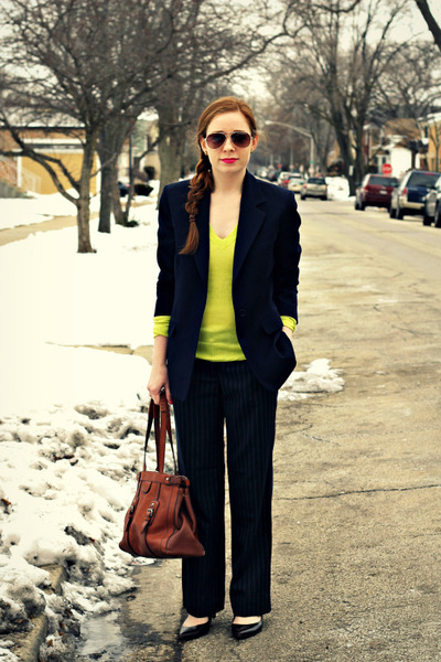 blazer - sweater - pants