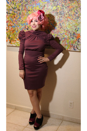 GALIC LAURA dress - pink wig leg avenue accessories - Makers Shoes wedges