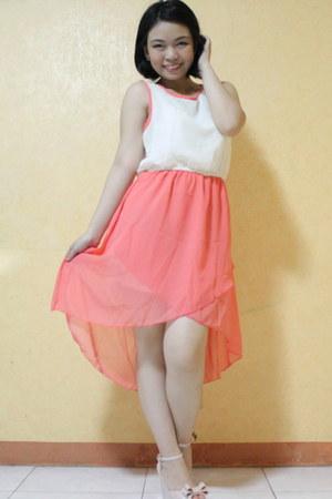 salmon mullet dress dress