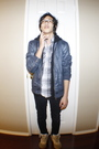 Blue-heritage-1981-jacket-black-thrifted-jacket-white-american-eagle-shirt-