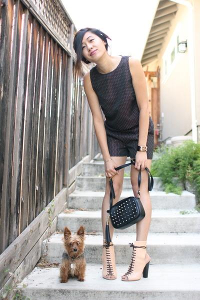 black studded bag Forever 21 bag - maroon Nordstrom shorts