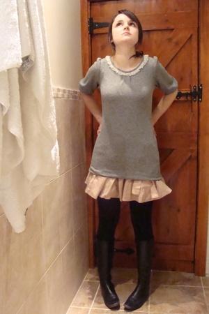 Etsy sweater - Topshop skirt - LK Bennett boots - Urban Outfitters purse