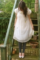 vintage dress - Urban Outfitters jeans - vintage shoes