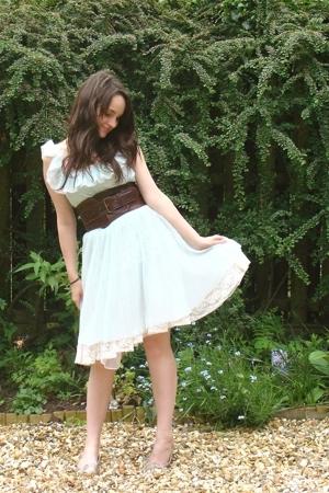 vintage dress - jocasi belt - Repetto shoes - vintage skirt - thischarminggirl n