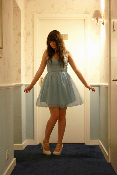 blue Rodarte for Target dress - white Topshop shoes