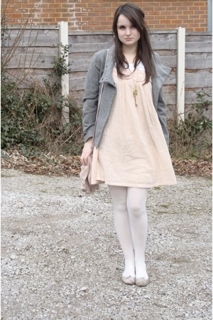 Ruche dress - H&M jacket - Repetto shoes - PingPingProp necklace - Topshop purse