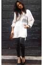 Shakuhachi-dress-aldo-bag-chanel-flats-zara-pants-mont-blanc-watch-lov