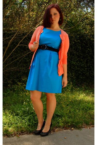 Blue Maurices Dresses, Black Steve Madden Shoes, Merona Cardigans ...