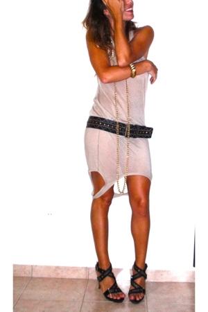 shop 126 dress - le lis blanc belt - street fair necklace - shoes - saad