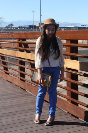 Forever21 blouse - Dooney & Bourke bag - Gap pants