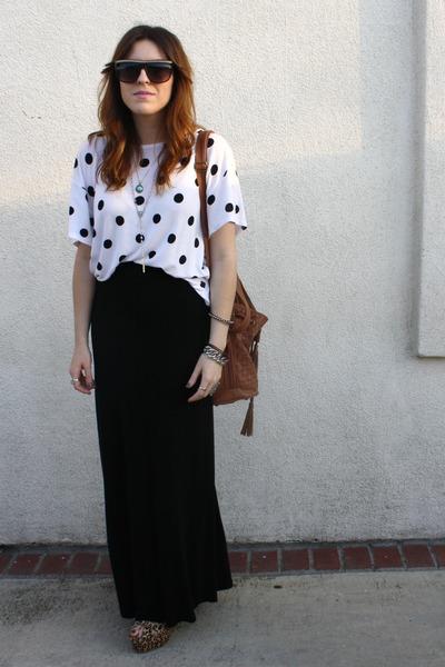H&M t-shirt - H&M skirt - Jeffrey Campbell shoes - Aldo purse