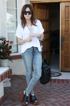 BDG urban outfitters jeans - Jeffrey Campbell shoes - JCP shirt - Gucci sunglass
