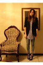 uo BDG jeans - Zara blazer - American Rag shirt - franco sarto heels