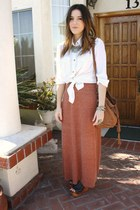 H&M shirt - Zara skirt - Jeffrey Campbell wedges