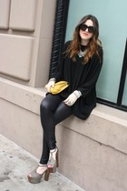 H&M sweater - Jessica Simpson shoes - Guess leggings