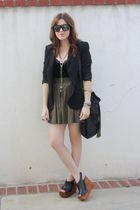 Zara blouse - vintage top - Metropark skirt - Jeffrey Campbell shoes - f21 purse