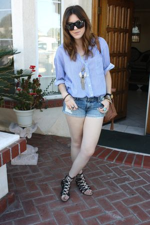 American Rag shirt - YMI shorts - DV by dolce vita shoes - Aldo purse - Gucci su