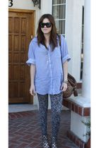 American Rag shirt - bought at nordstrom leggings - Deena & Ozzy shoes - Steven