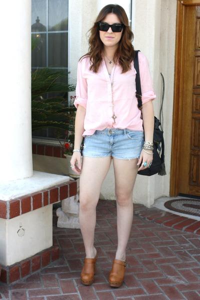 H&M shirt - Tillys shorts - Jeffrey Campbell shoes - f21 purse