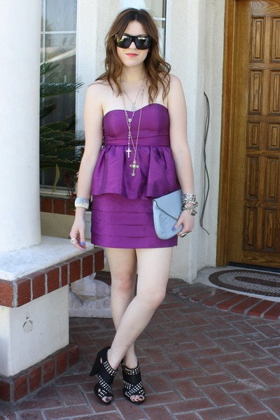 f21 dress - Zara shoes - vintage purse - Gucci sunglasses