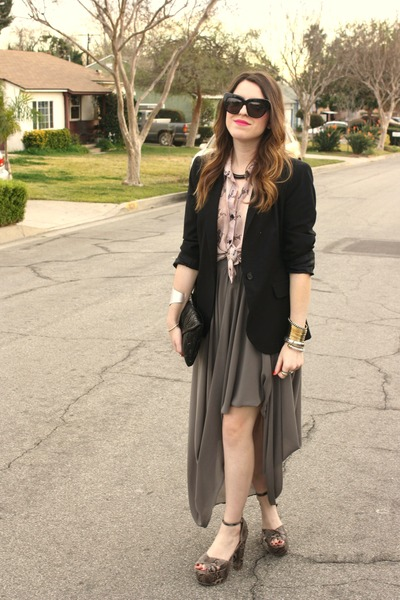TJ Maxx skirt - snakeprint SwayChic blouse