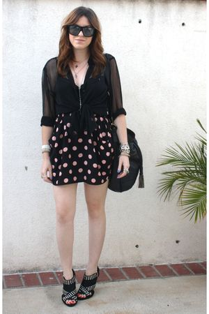 H&amp;M blouse - H&amp;M skirt - Zara shoes - f21 purse - Gucci sunglasses