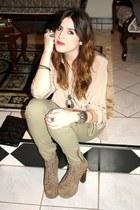 blouse - H&M pants - Jeffrey Campbell shoes - f21 necklace