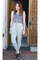 American Apparel top - Forever 21 pants - Jeffrey Campbell shoes - Aldo purse -