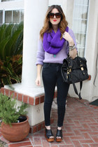 vintage sweater - BDG jeans - Jeffrey Campbell shoes - asos purse