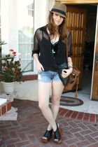 H&M shirt - YMI shorts - Jeffrey Campbell shoes - Aldo purse - f21 necklace
