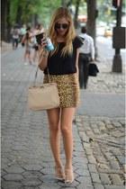 Celine bag - Zara top