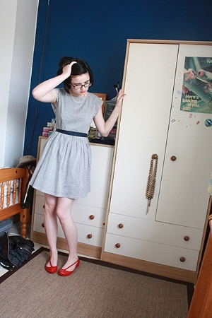 bay trading dress - Marks & Spencer necklace - Melissa shoes
