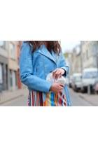 new look dress - Zara jacket - new look bag - Payless heels