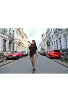 Clarks boots - Zara shirt - Bershka pants