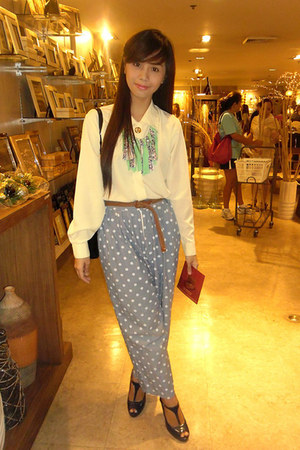 Mango top - Parisian shoes - Aldo bag - polka dots The Ramp pants