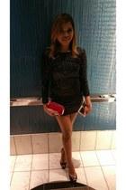 black sequined H&M dress