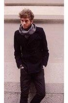 Purificacion Garcia scarf - Hugo Boss coat - Zara pants
