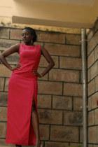 hot pink thigh high dress
