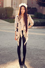 Oasap-leggings-ebay-accessories-gold-collar-tip-sugarlips-blouse