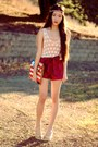 Diy-bag-high-waisted-handmade-shorts-crochet-vintage-top