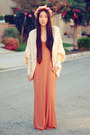 Rust-maxi-forever-21-dress-chunky-batwing-romwe-cardigan-diy-accessories
